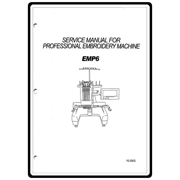 Service Manual, Babylock EMP6 Embroidery Pro. : Sewing