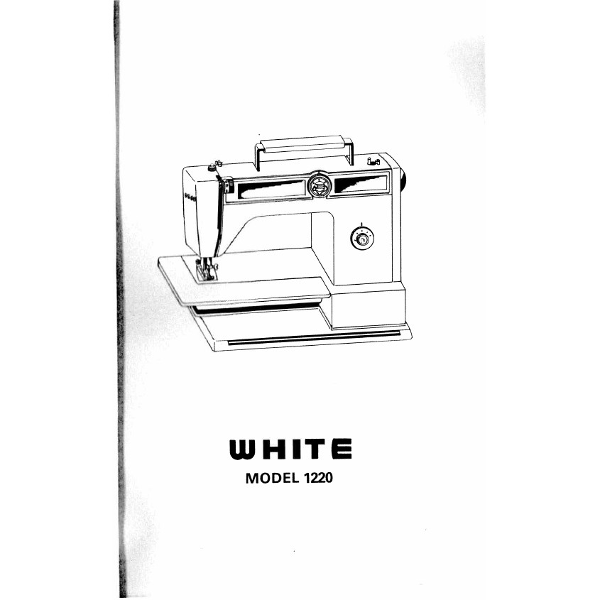 Instruction Manual, White 1220 : Sewing Parts Online