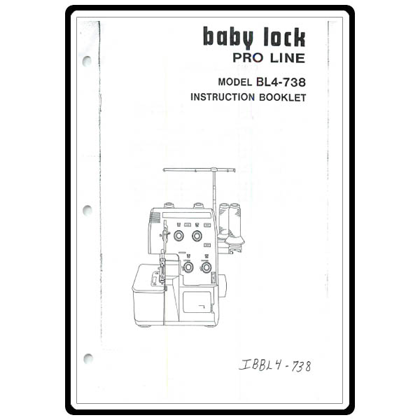 Instruction Manual, Babylock BL4-738 Pro Line : Sewing