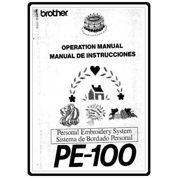 Instruction Manual, Brother PE-100 : Sewing Parts Online