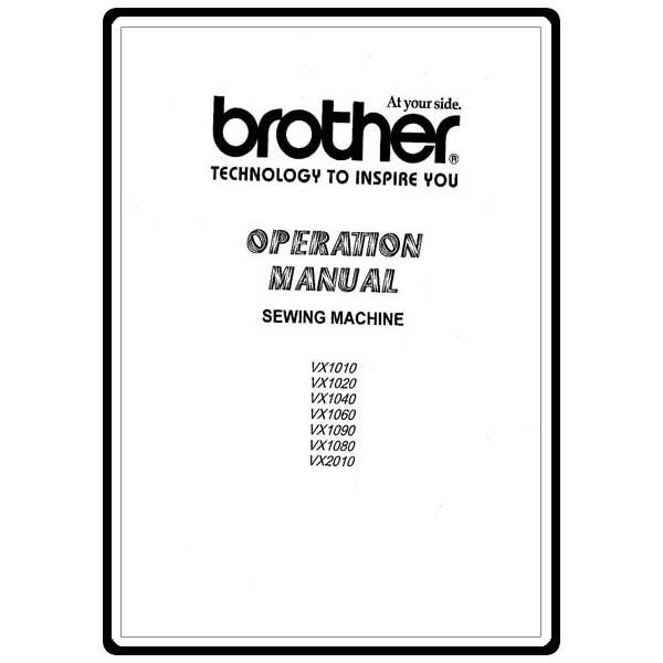 Instruction Manual, Brother VX1010 : Sewing Parts Online