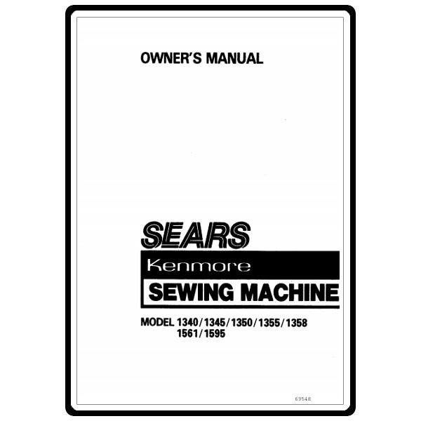 Instruction Manual, Kenmore 158.13500 Models: Sewing Parts