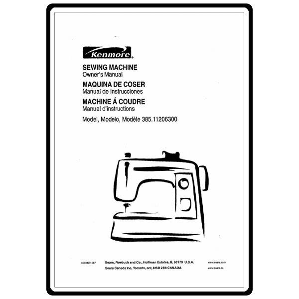 Instruction Manual, Kenmore 385.11206300 : Sewing Parts Online