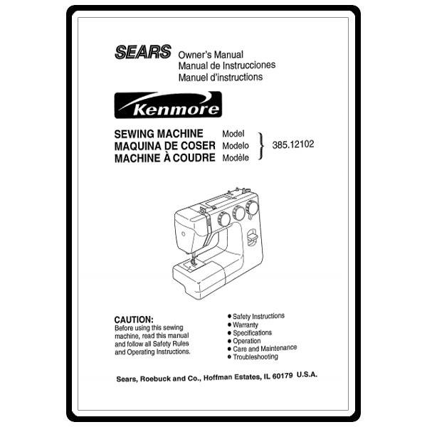 Instruction Manual, Kenmore 385.12102 Models : Sewing Parts Online