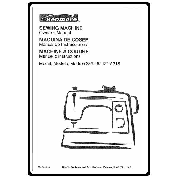 Instruction Manual, Kenmore 385.15218400 : Sewing Parts Online