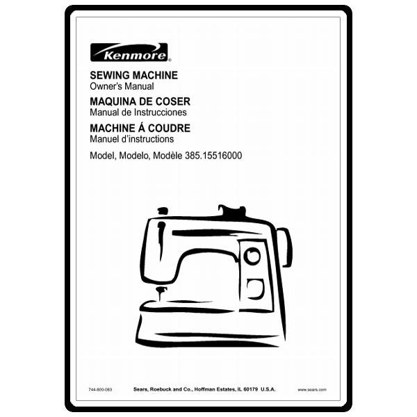 Instruction Manual, Kenmore 385.15516000 : Sewing Parts Online