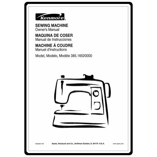 Instruction Manual, Kenmore 385.16520000 : Sewing Parts Online