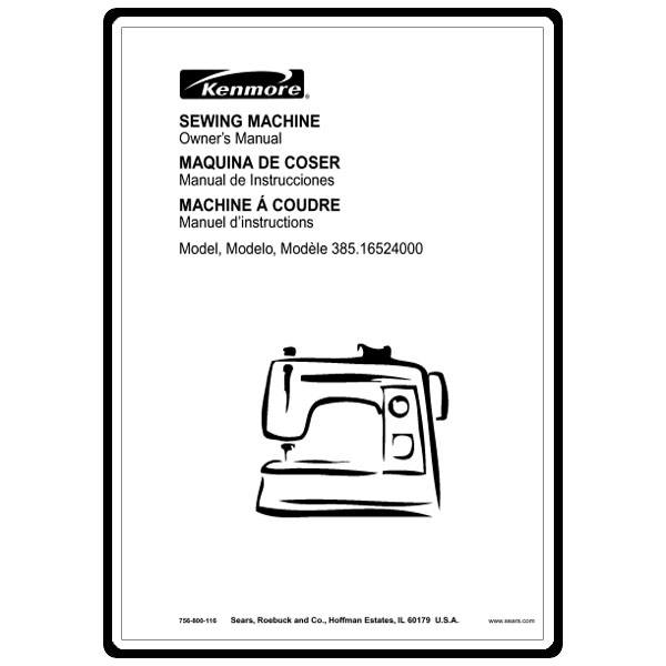 Instruction Manual, Kenmore 385.16524000 : Sewing Parts Online