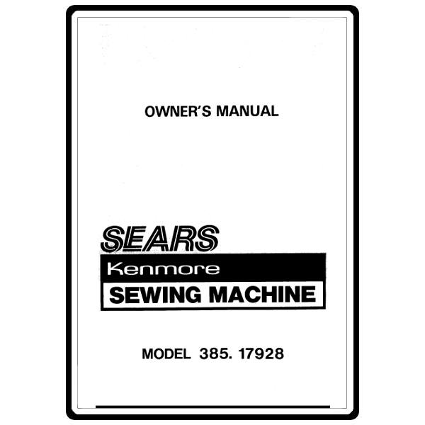 Instruction Manual, Kenmore 385.17928 : Sewing Parts Online