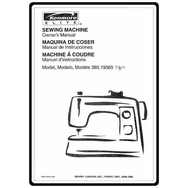 Instruction Manual, Kenmore 385.19365 Models : Sewing