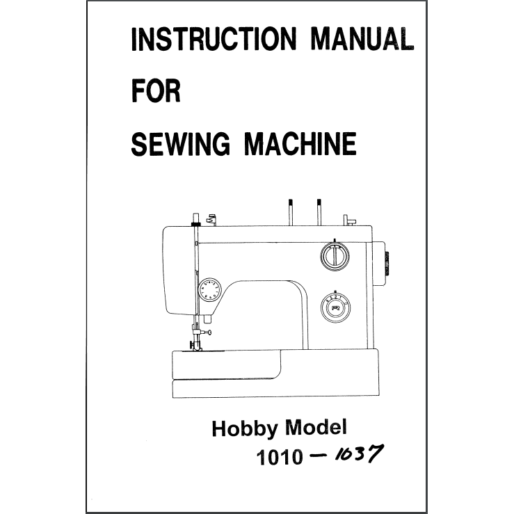 Instruction Manual, Pfaff Hobby 1010 : Sewing Parts Online