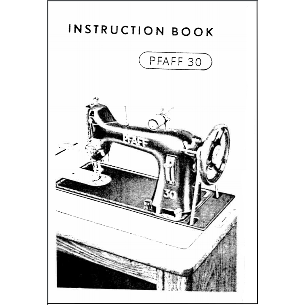 Instruction Manual, Pfaff 30 : Sewing Parts Online
