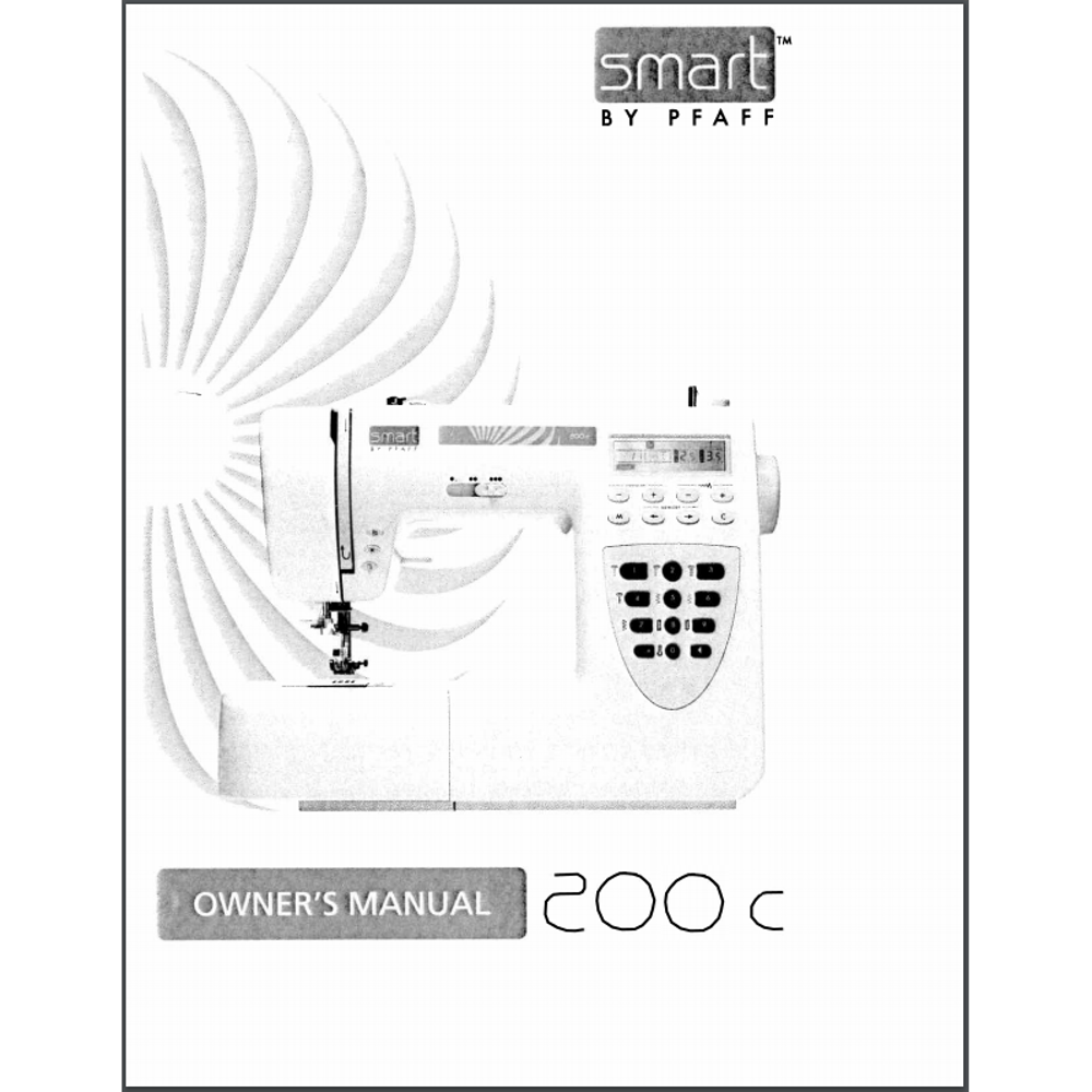Instruction Manual, Pfaff Smart 200c: Sewing Parts Online
