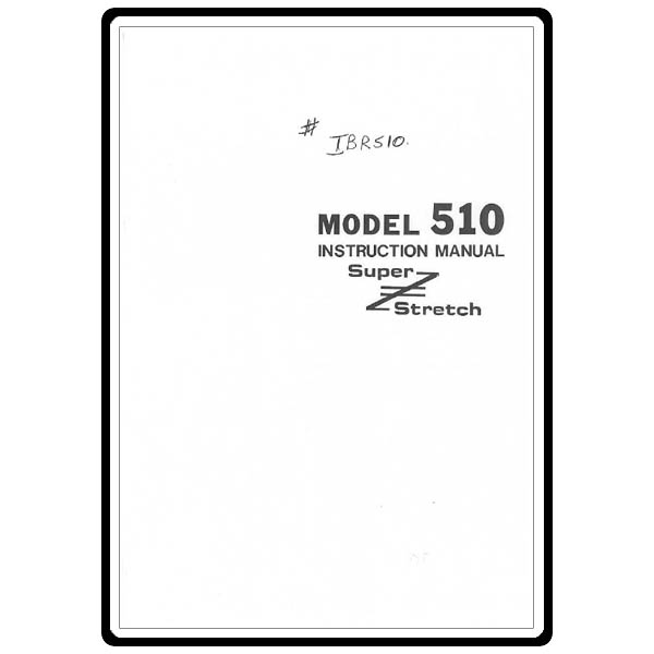 Instruction Manual, Riccar 510 : Sewing Parts Online