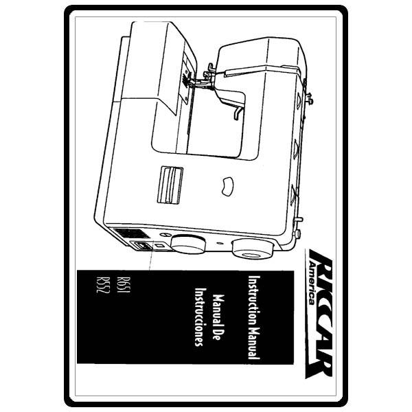 Instruction Manual, Riccar R552 : Sewing Parts Online