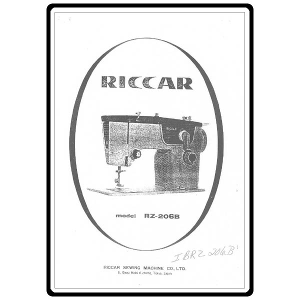 Instruction Manual, Riccar RZ206B : Sewing Parts Online