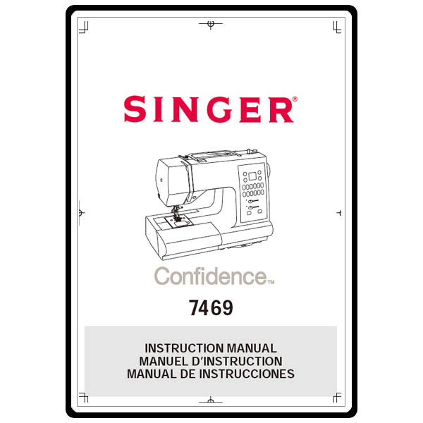 Instruction Manual, Singer 7469 Confidence : Sewing Parts