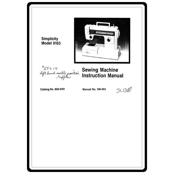 Instruction Manual, Simplicity SL1200 : Sewing Parts Online