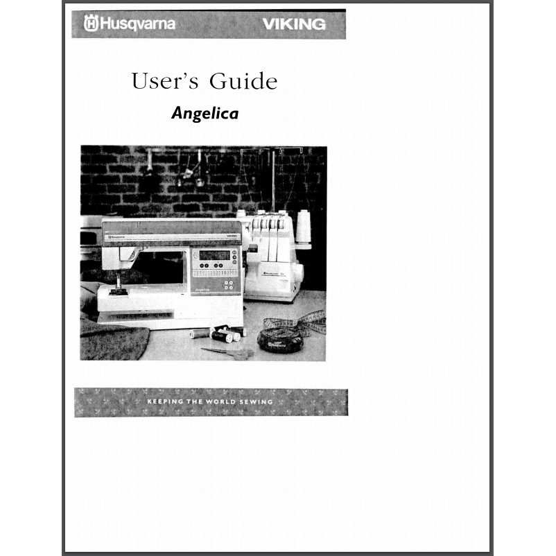 Instruction Manual, Viking Angelica : Sewing Parts Online