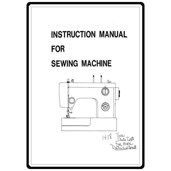 Instruction Manual, White 1418 : Sewing Parts Online