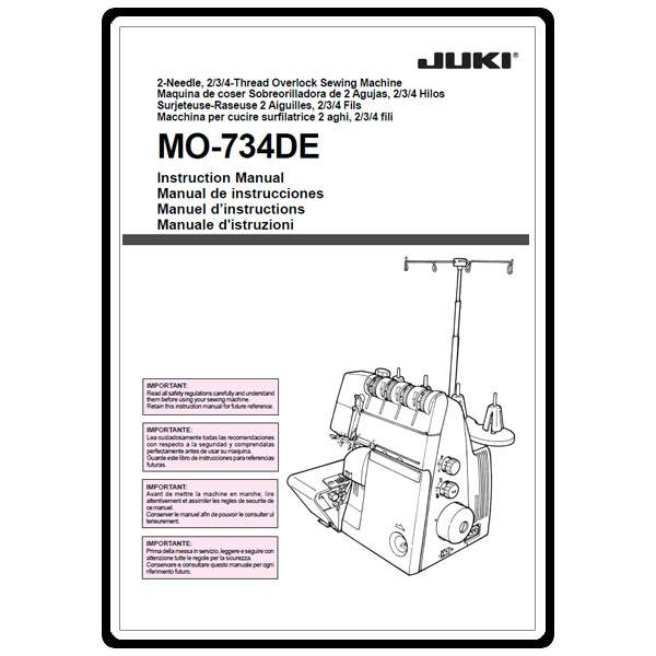 Instruction Manual, Juki MO-734DE : Sewing Parts Online