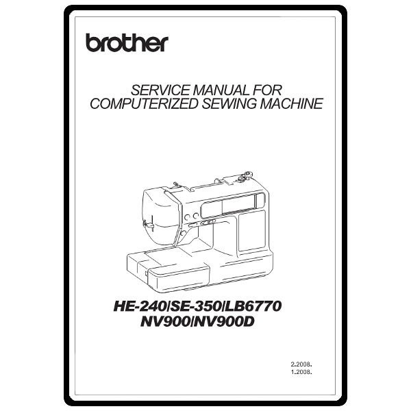 Service Manual, Brother NV900 : Sewing Parts Online