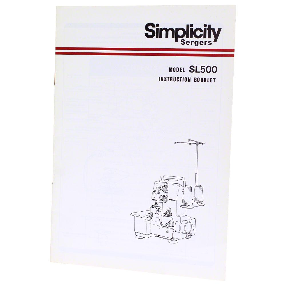 Instruction Manual, Simplicity SL500 : Sewing Parts Online