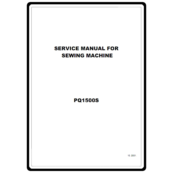 Service Manual, Brother PQ1500S : Sewing Parts Online