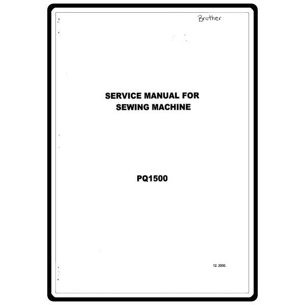 Service Manual, Brother PQ1500 : Sewing Parts Online