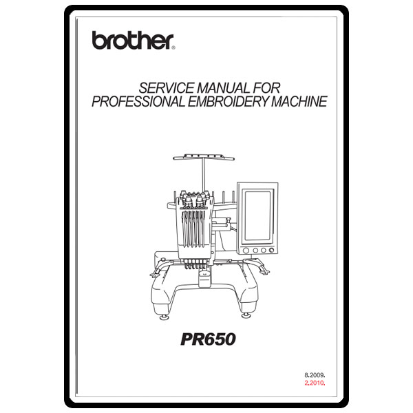 Service Manual, Brother PR-650 : Sewing Parts Online