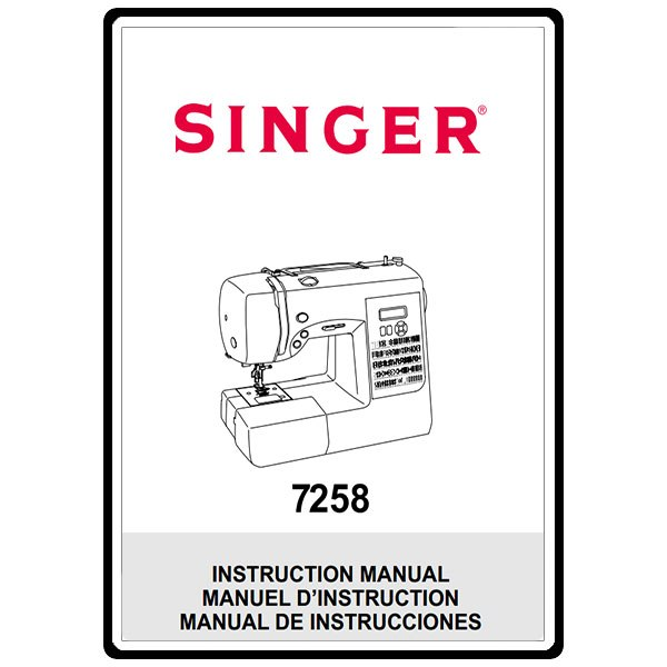 Instruction Manual, Singer S800 Fashionista : Sewing Parts