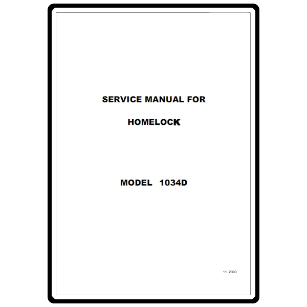 Service Manual, Brother 1034D : Sewing Parts Online