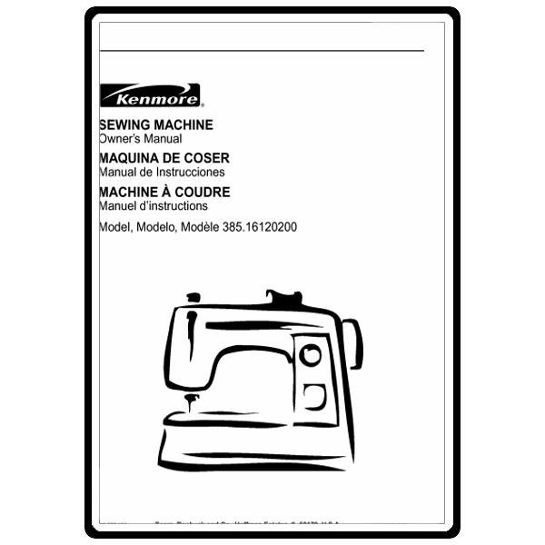 Instruction Manual, Kenmore 385.16130200 : Sewing Parts Online
