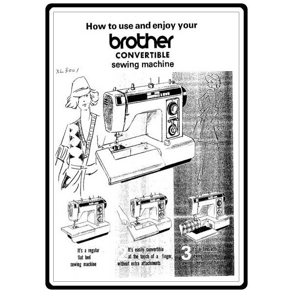 Instruction Manual, Brother Convertible XL-3001 : Sewing