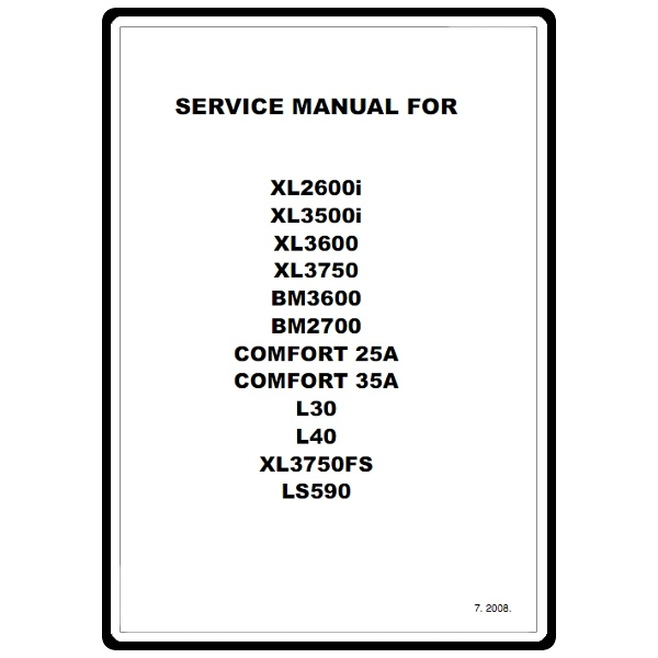 Service Manual, Brother XL3600 : Sewing Parts Online