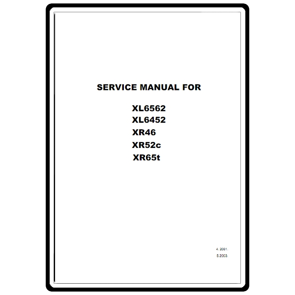 Service Manual, Brother XR52C : Sewing Parts Online