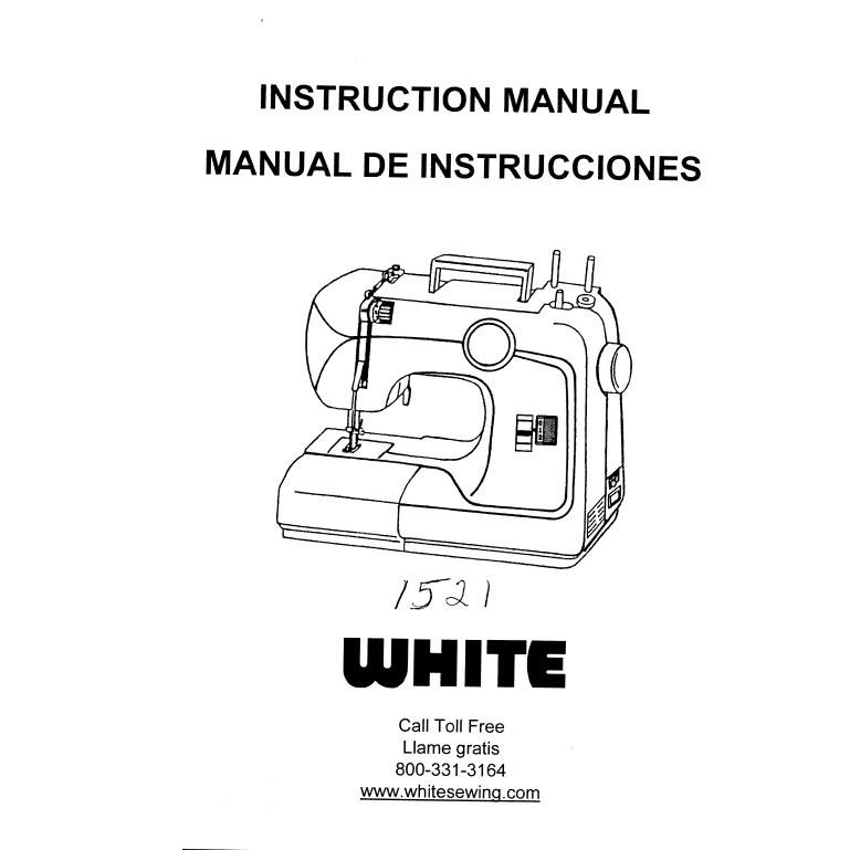 Instruction Manual, White 1521: Sewing Parts Online