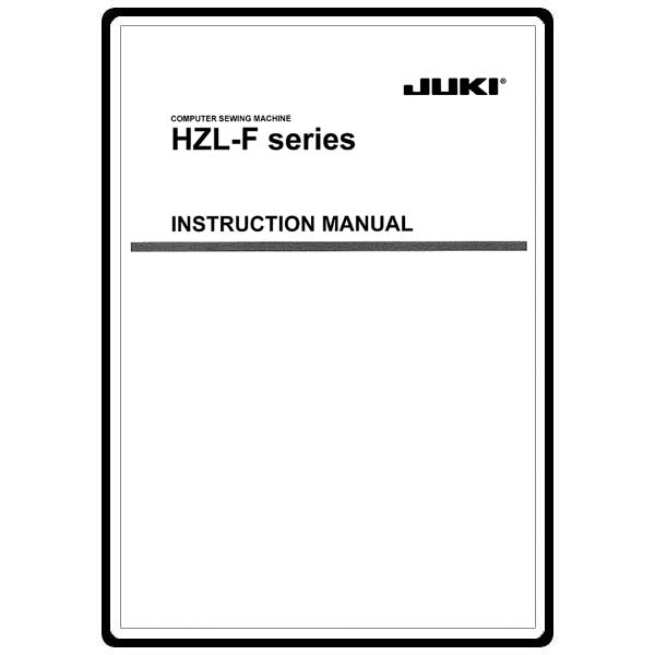 Instruction Manual, Juki HZL-F600 : Sewing Parts Online