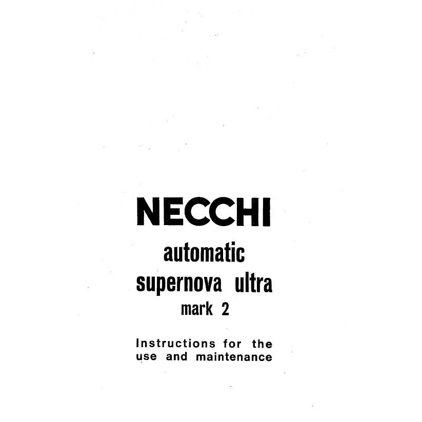 Instruction Manual, Necchi Supernova : Sewing Parts Online