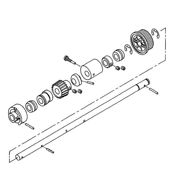 Hook Drive Shaft Assembly, Singer #386213 : Sewing Parts