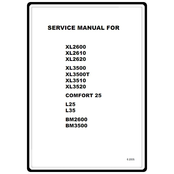 Service Manual, Brother XL3500T : Sewing Parts Online