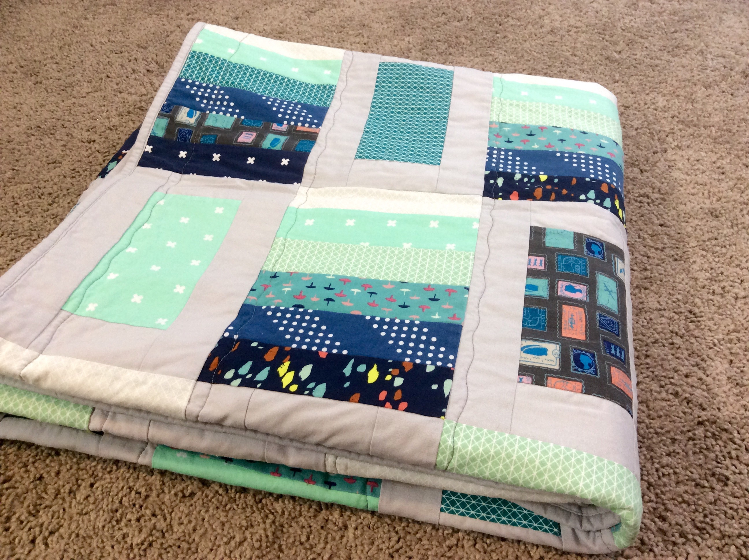 blue green side building quilts something tag seaview quilt from up of