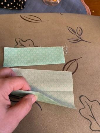 Process to make fabric mask band