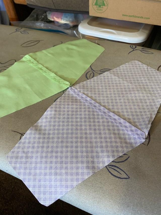 Tumblers sewn together