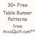157 Free Table Runner Patterns (Many Quilted Designs)