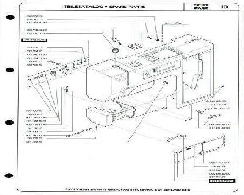 Bernina 1000 Sewing Machine Parts Book