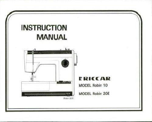 Riccar Sewing Machine Manuals
