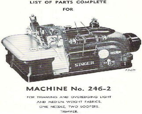 Singer Industrial Sewing Machine Parts Manuals List 8