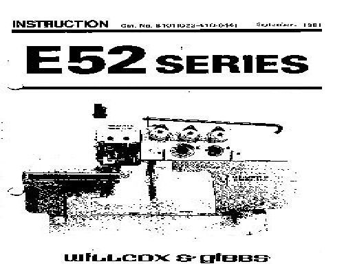 Willcox & Gibbs Industrial Sewing Machine Manuals