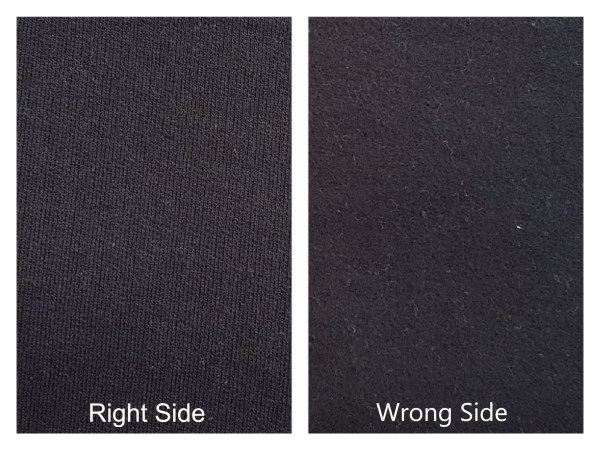 Cotton Fleece Brushed Black